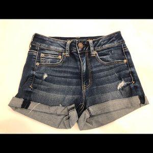 Hi-Rise Shortie Denim Shorts